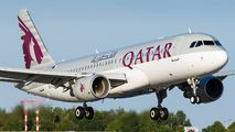 A7-LAA - Qatar Airways Airbus A320 aircraft
