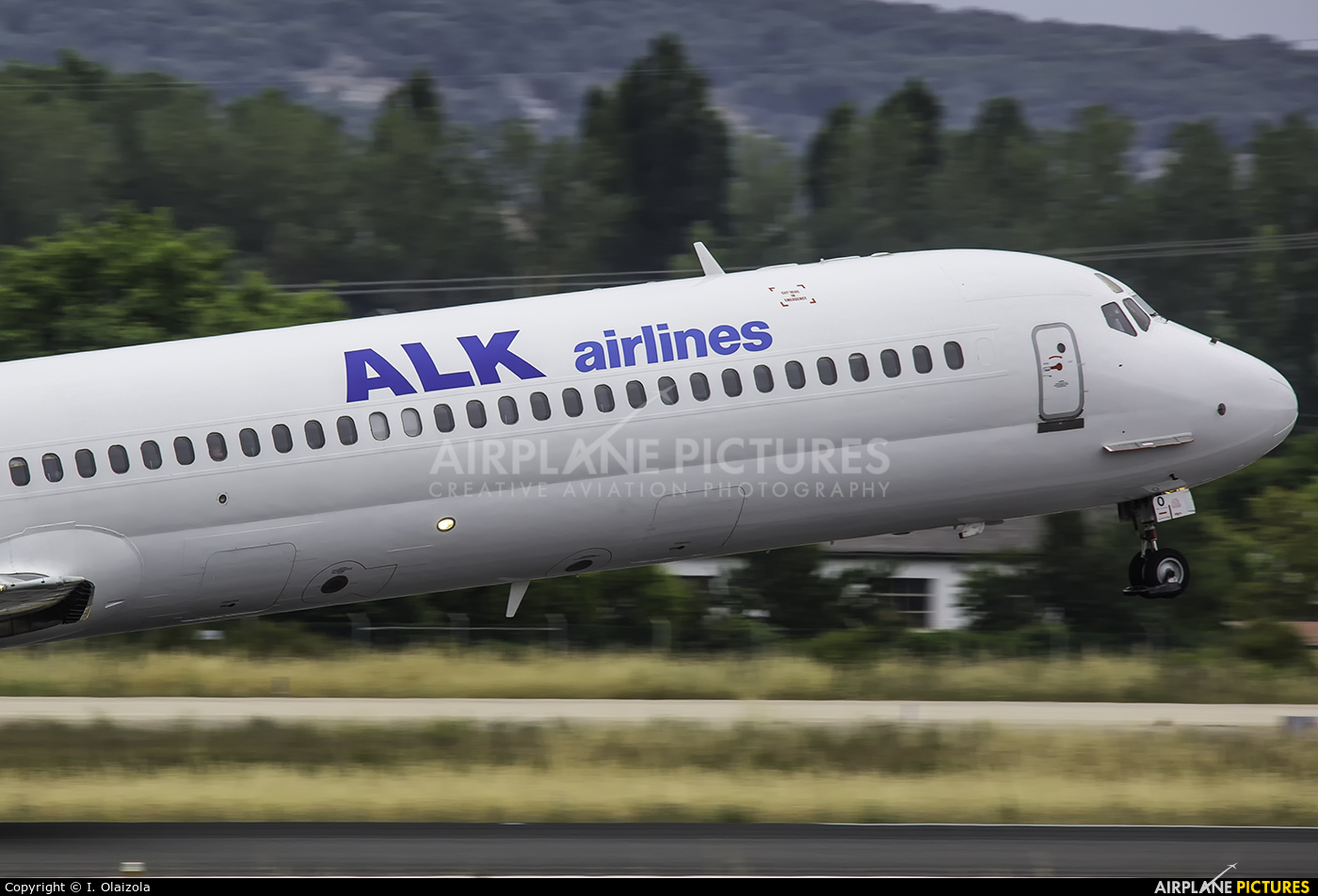 ALK Airlines LZ-DEO aircraft at Vitoria