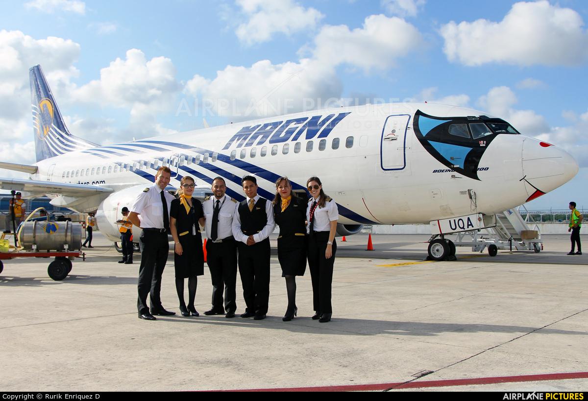 Magnicharters XA-UQA aircraft at Cancun Intl