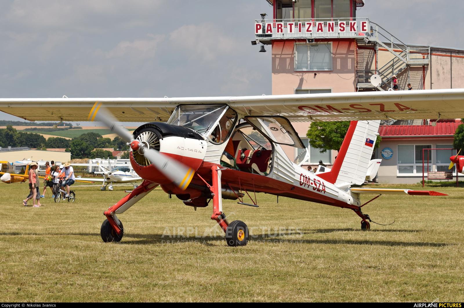 Private OM-SZA aircraft at Partizanske