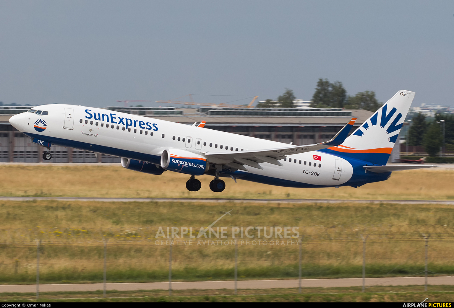 SunExpress TC-SOE aircraft at Stuttgart