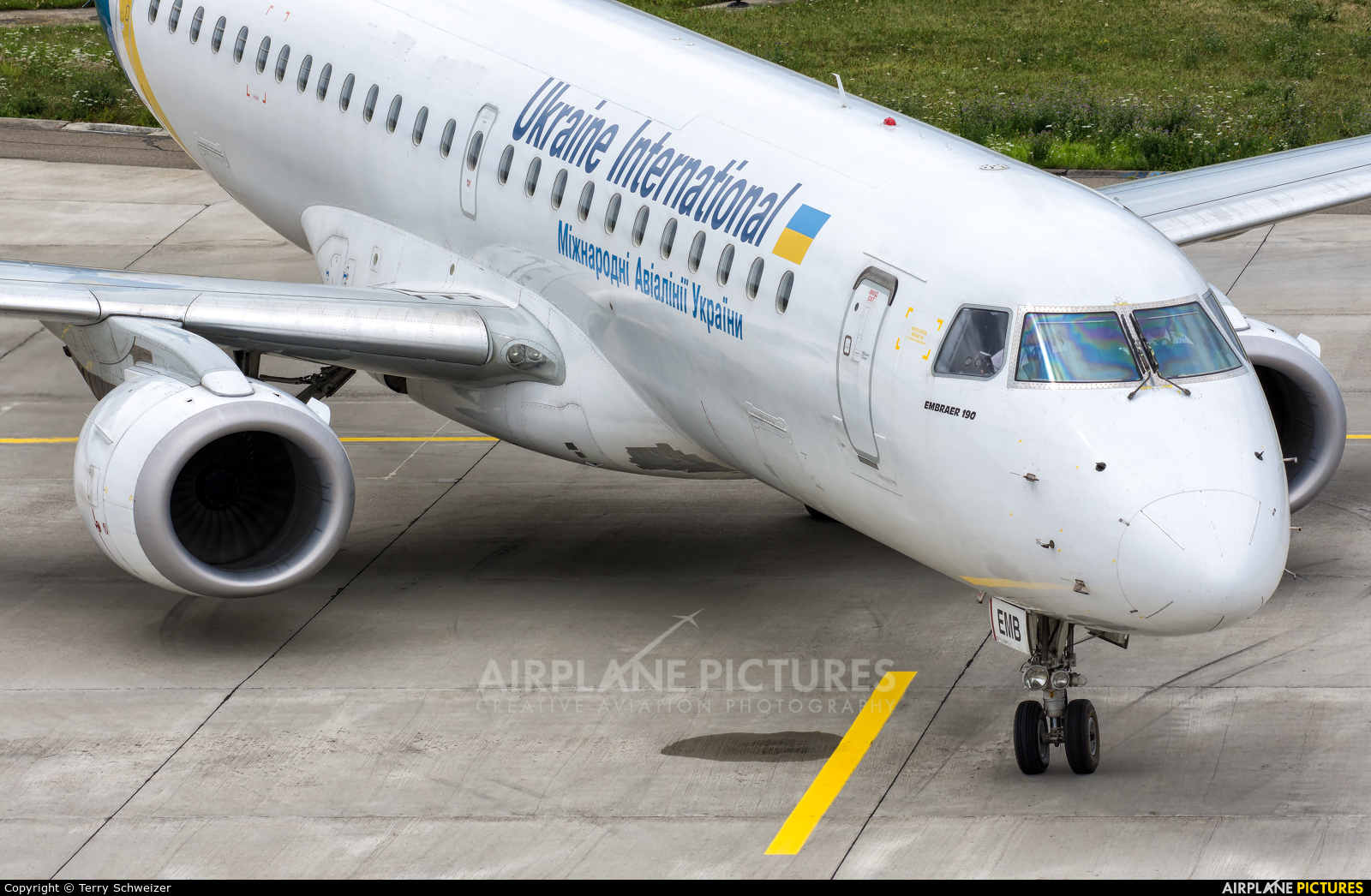 Ukraine International Airlines UR-EMB aircraft at Zurich