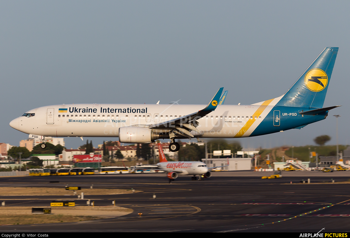Ukraine International Airlines UR-PSD aircraft at Lisbon