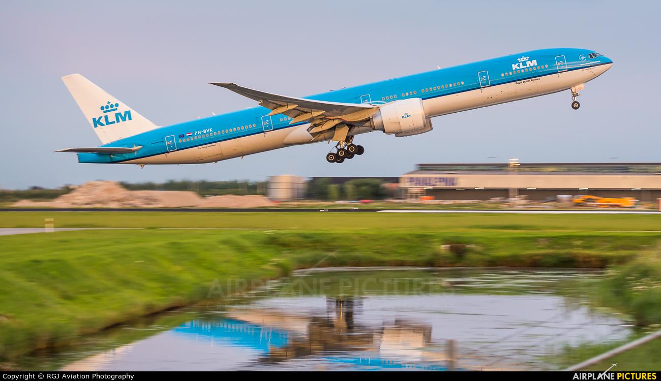 KLM PH-BVK aircraft at Amsterdam - Schiphol