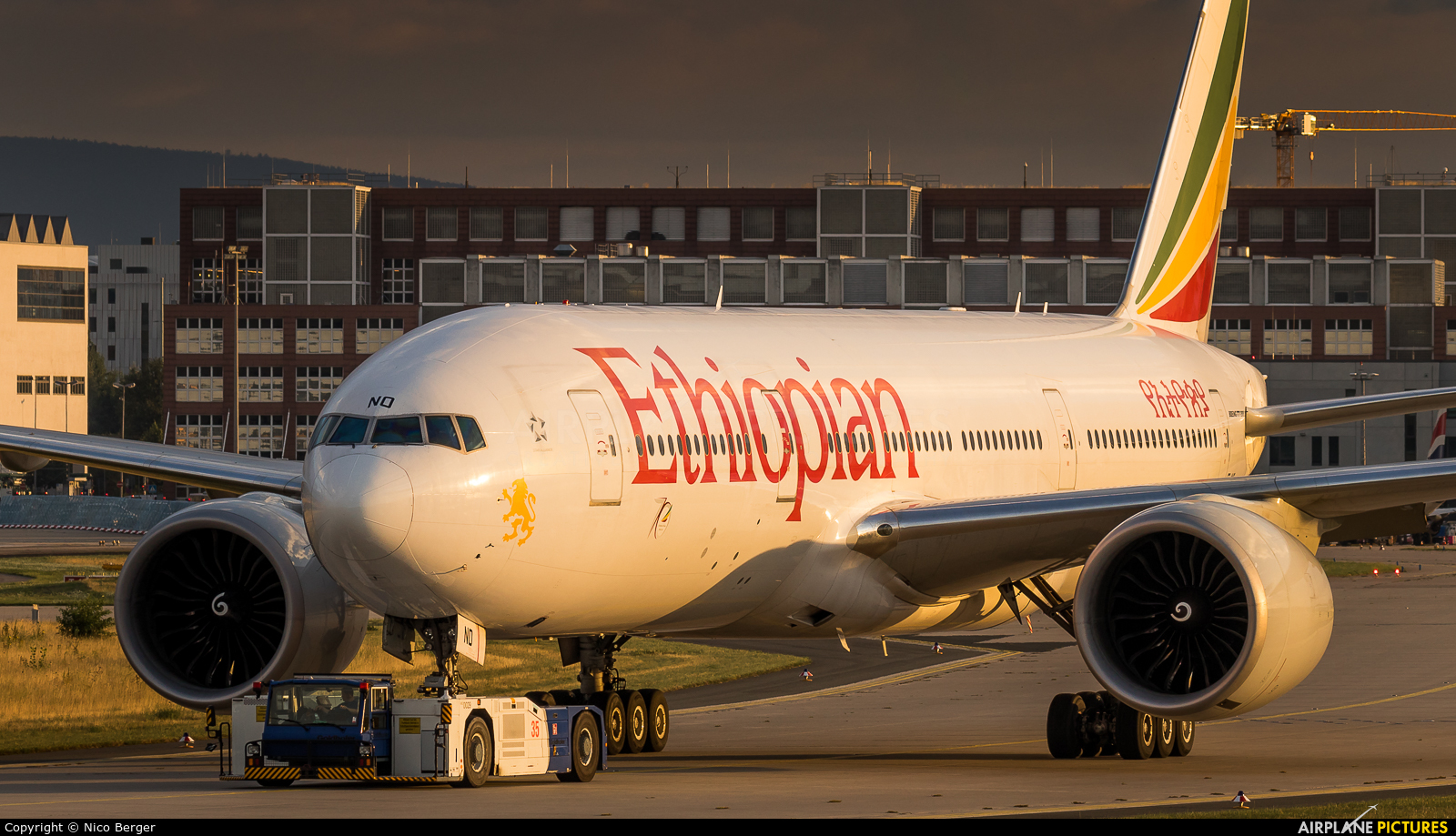 Ethiopian Airlines ET-ANO aircraft at Frankfurt