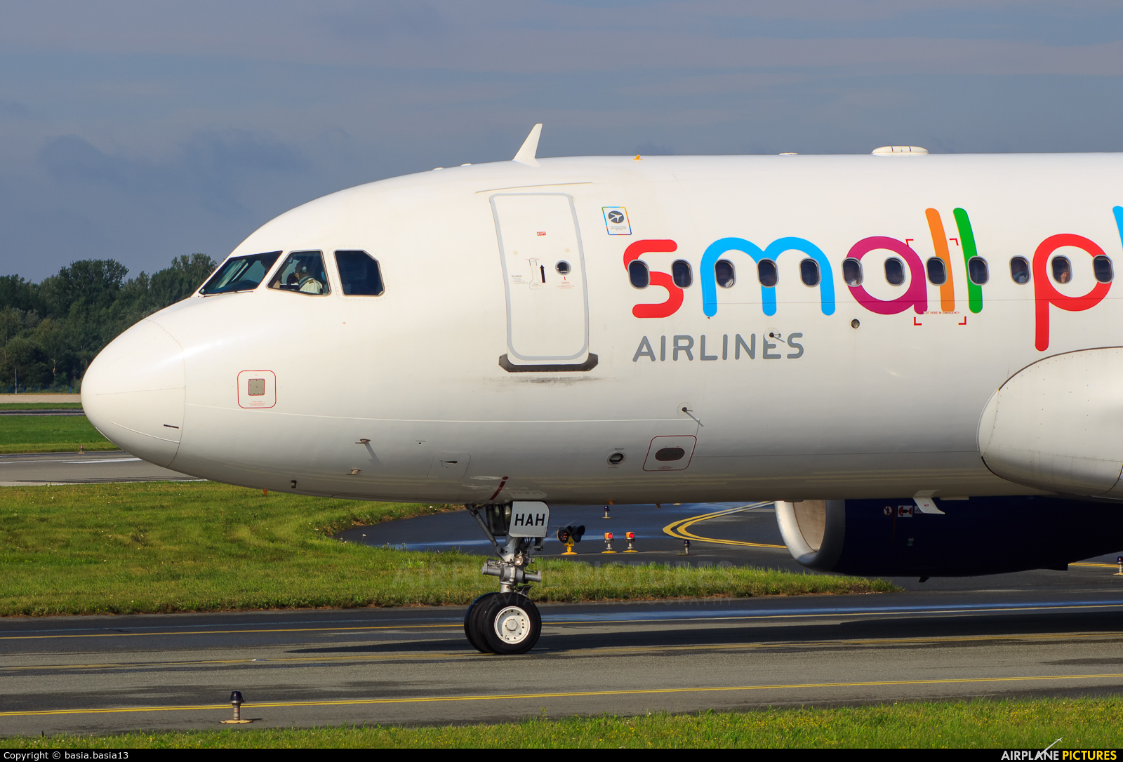 Small Planet Airlines SP-HAH aircraft at Warsaw - Frederic Chopin