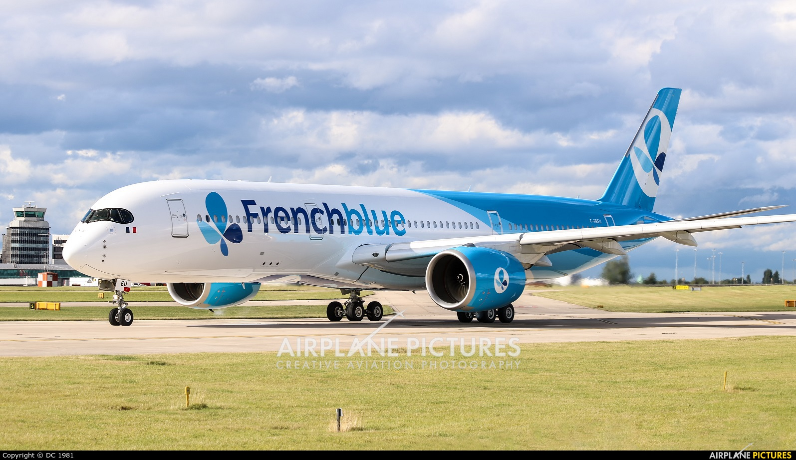 French Blue F-HREU aircraft at Manchester