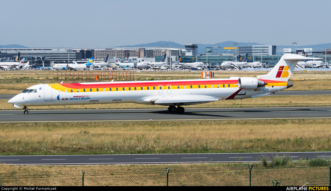 Air Nostrum - Iberia Regional EC-LOV aircraft at Frankfurt