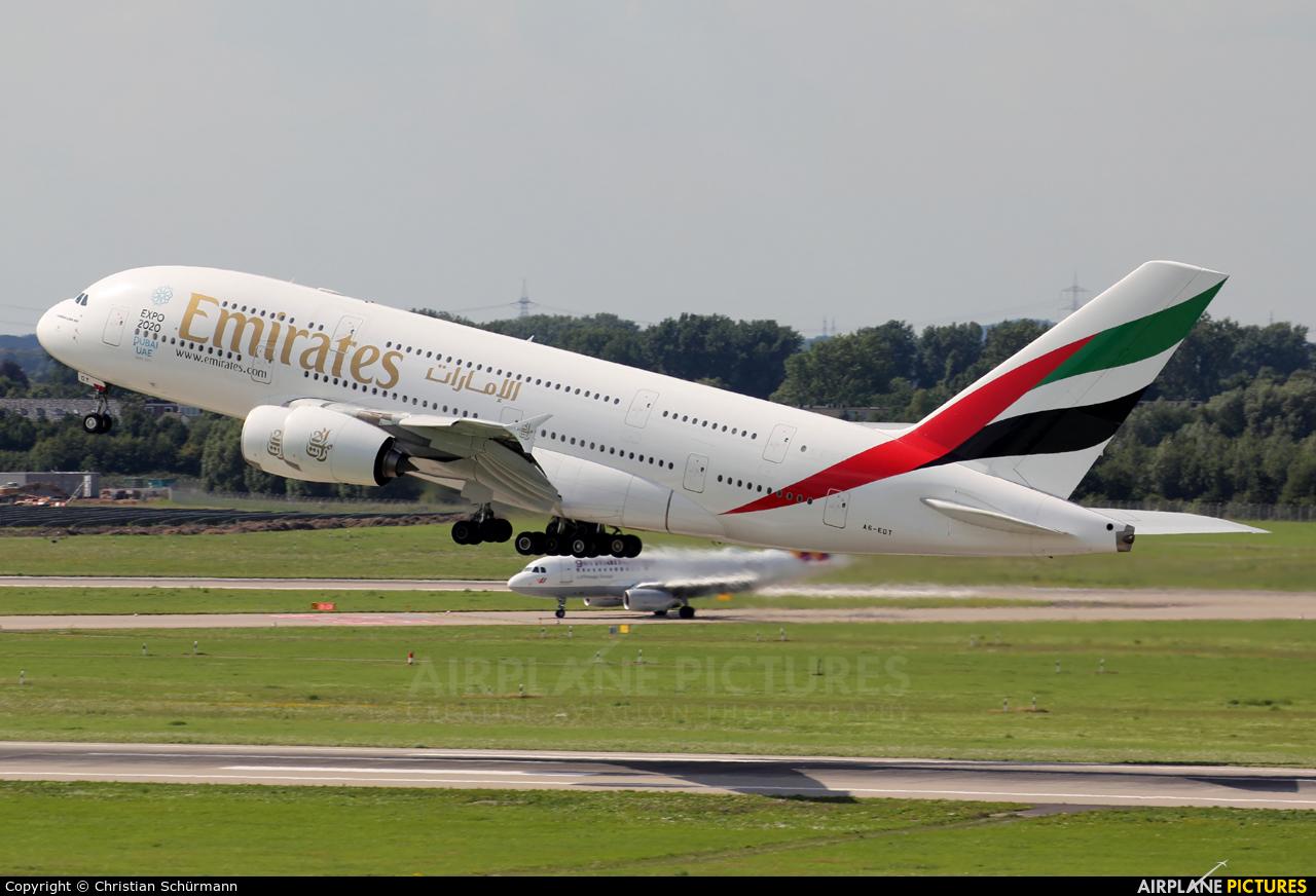 Emirates Airlines A6-EDT aircraft at Düsseldorf
