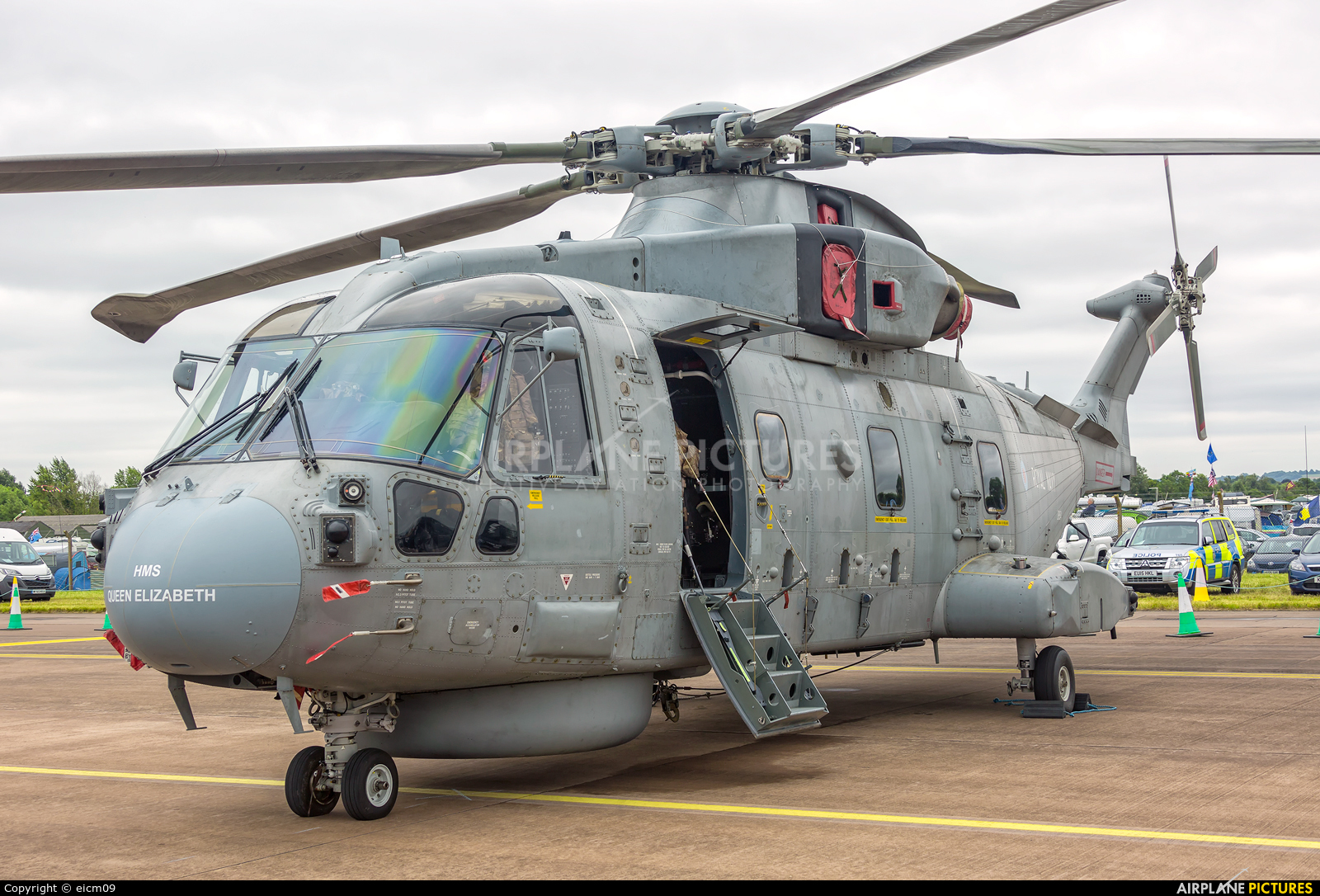 Royal Navy ZH854 aircraft at Fairford