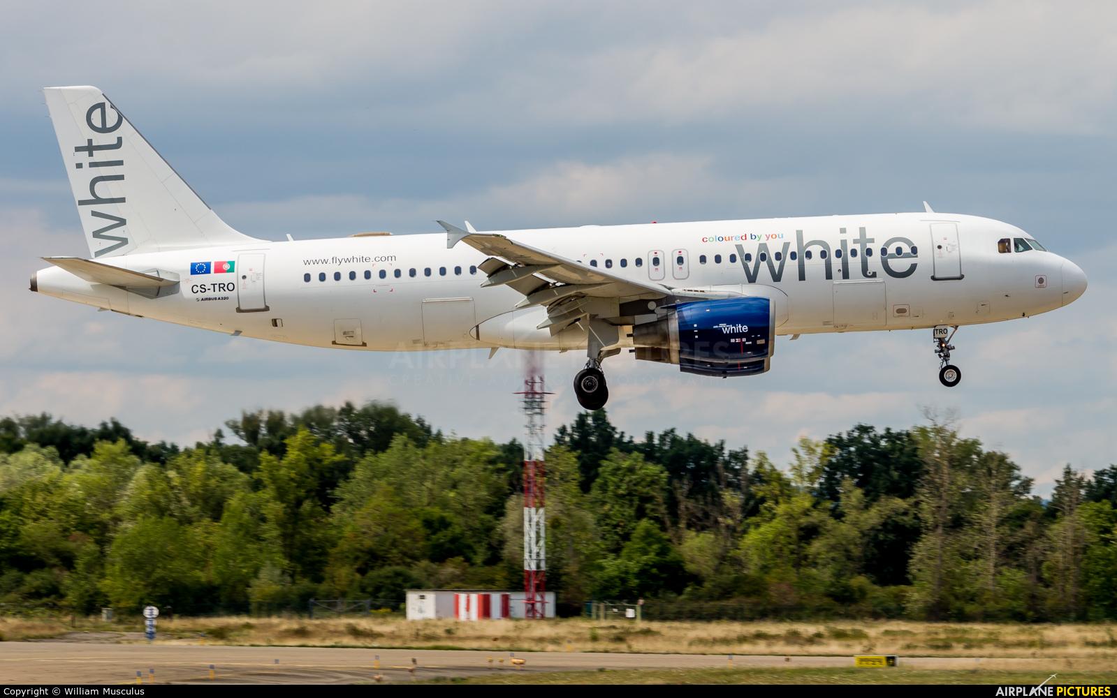 White Airways CS-TRO aircraft at Strasbourg-Entzheim