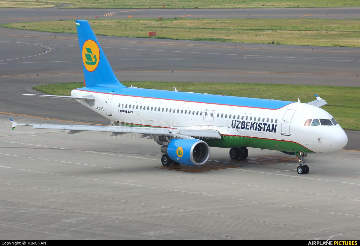 Uzbekistan Airways UK32019 aircraft at Chubu Centrair Intl