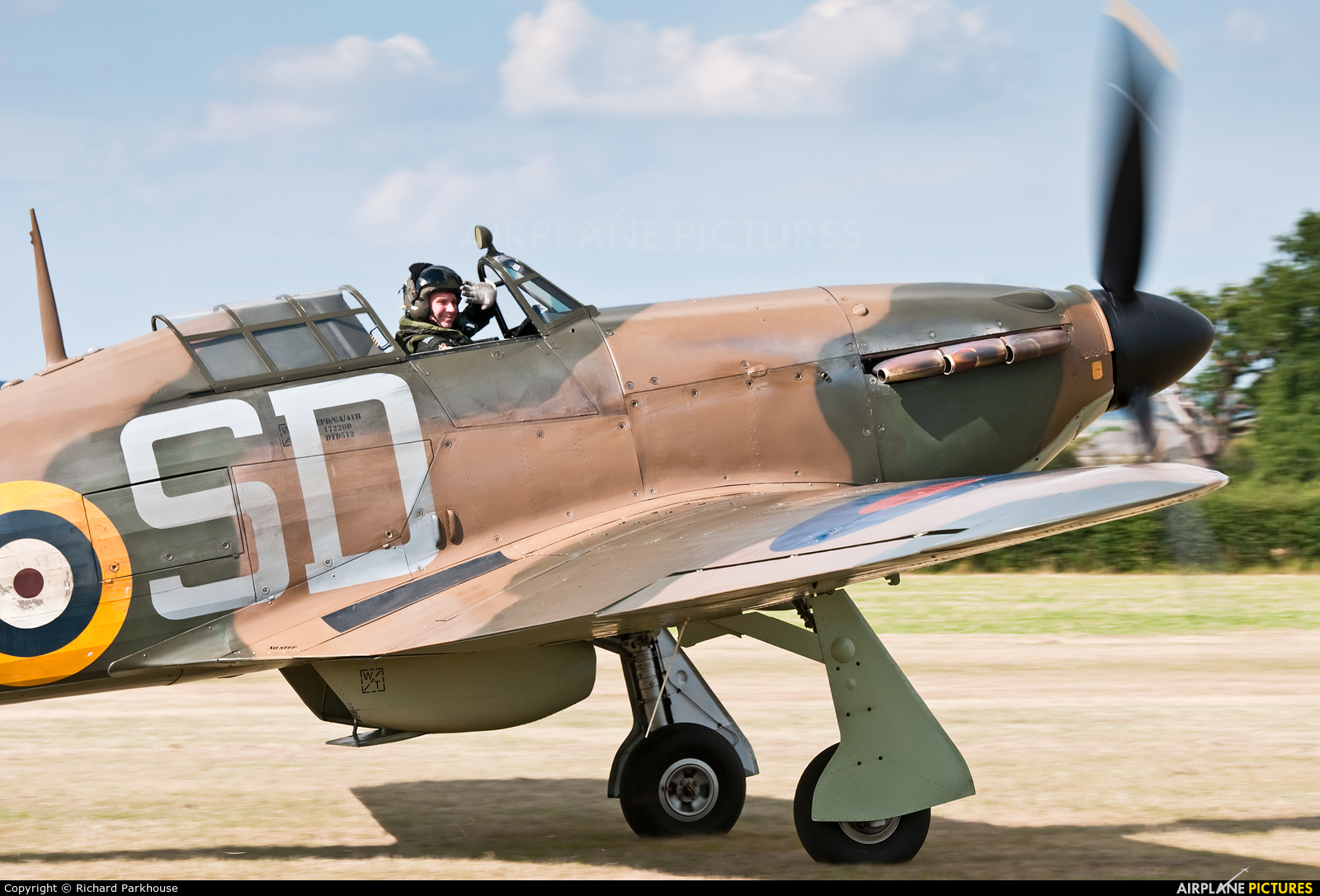 "Royal Air Force ""Battle of Britain Memorial Flight"" LF363 aircraft at Lashenden / Headcorn"