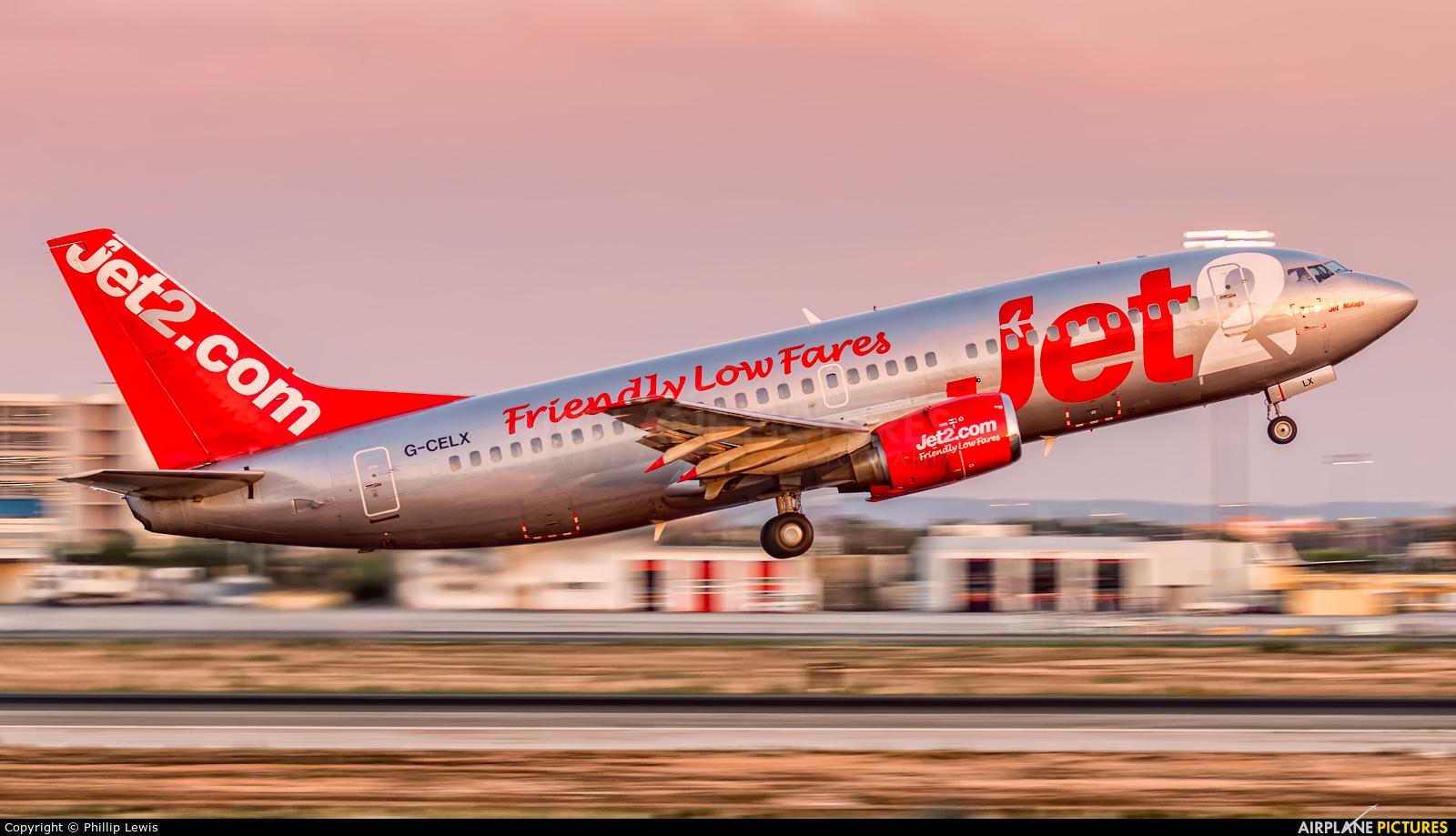 Jet2 G-CELX aircraft at Palma de Mallorca