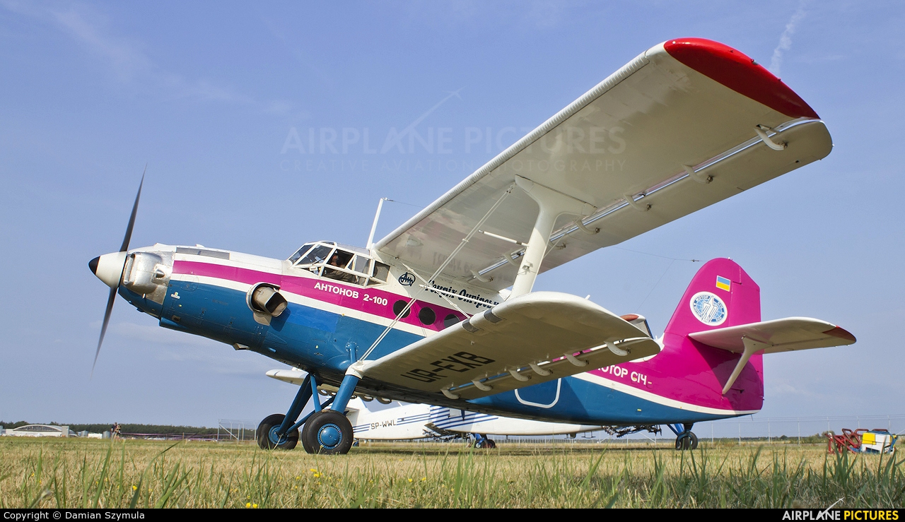 Motor Sich UR-EXB aircraft at Mielec