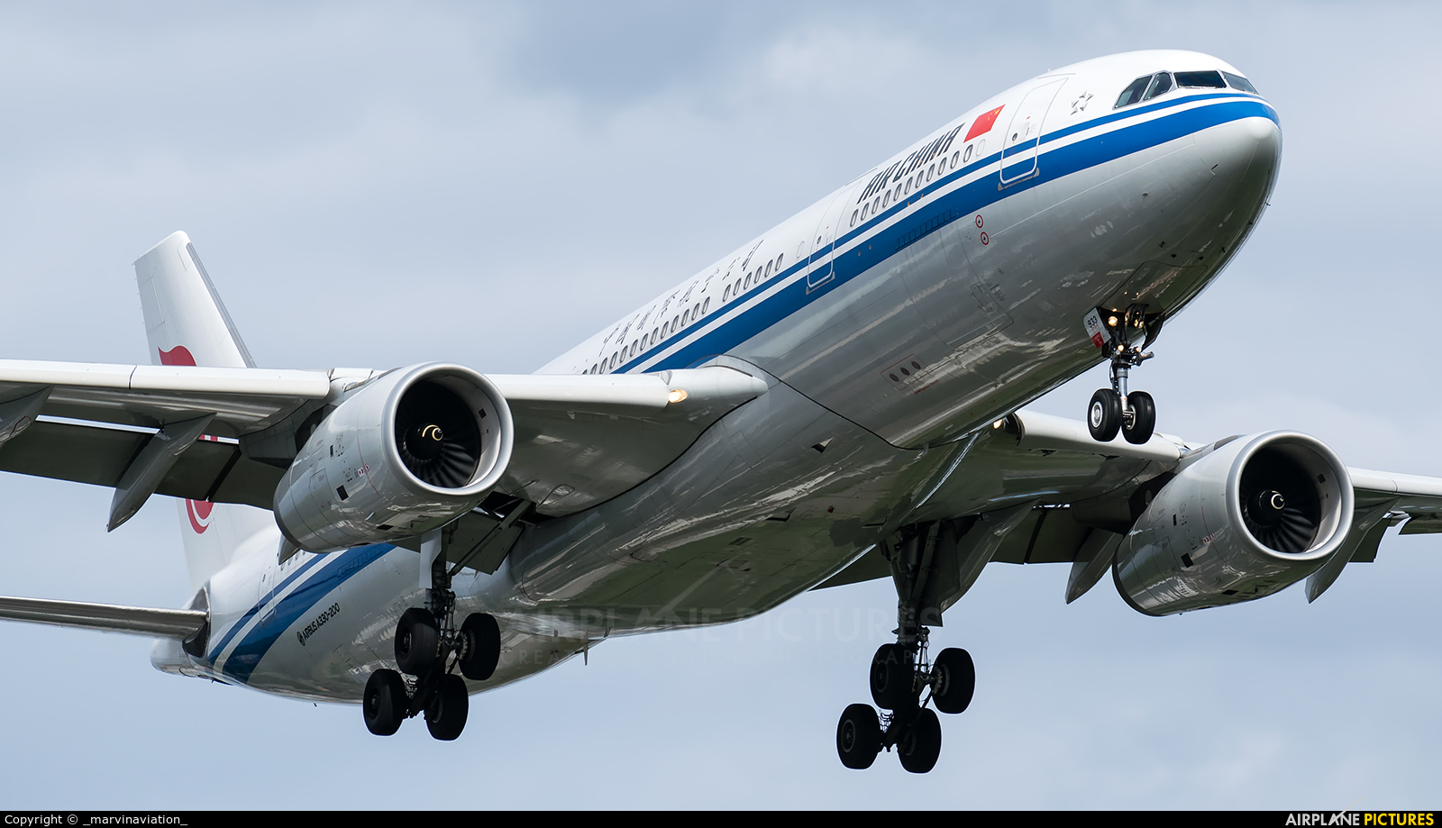 Air China B-5933 aircraft at Frankfurt