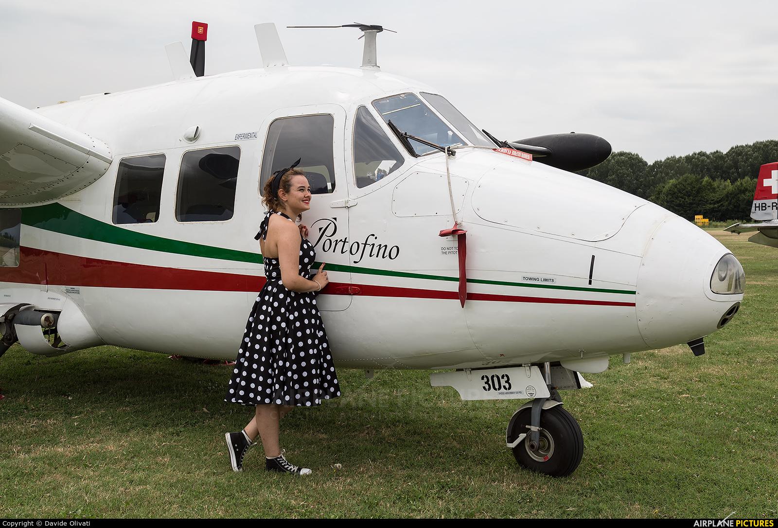 Private I-FENI aircraft at Montagnana