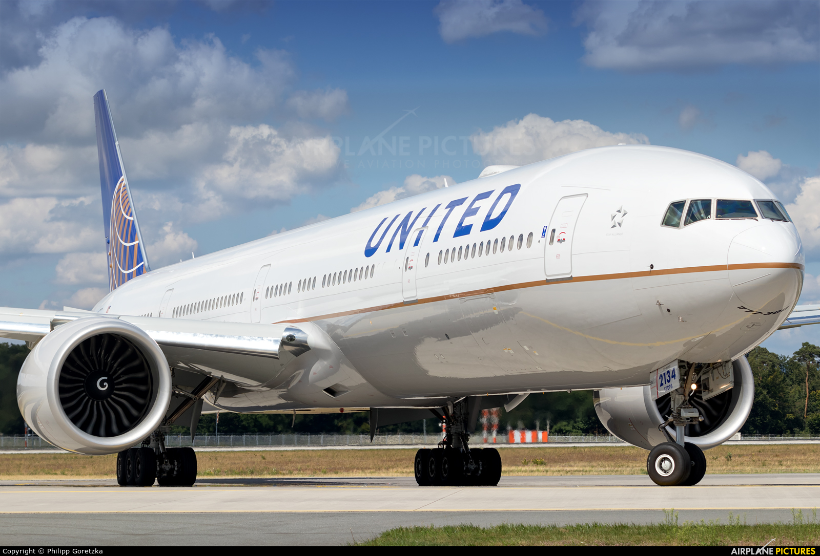 United Airlines N59034 aircraft at Frankfurt