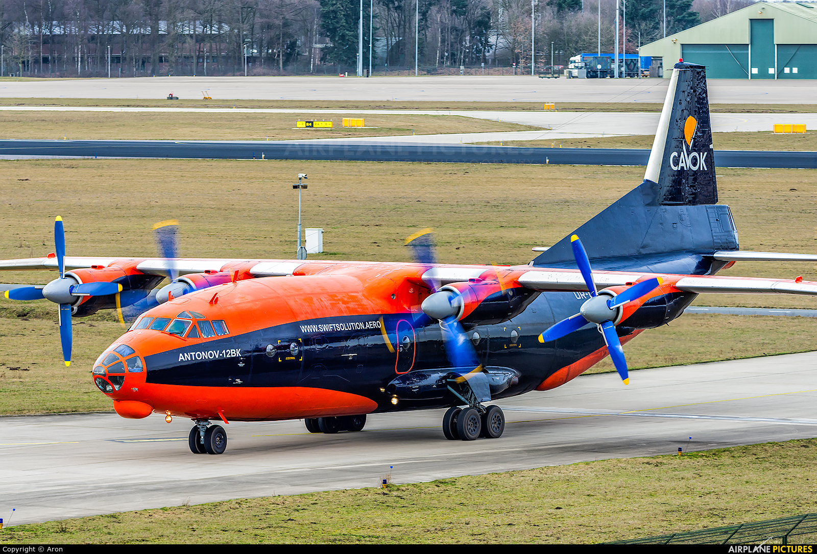 Cavok Air UR-CKL aircraft at Eindhoven