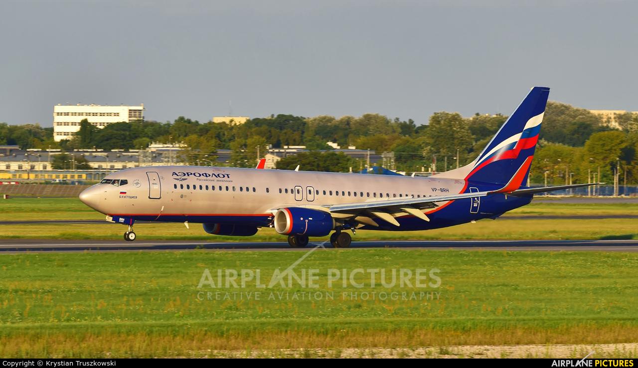 Aeroflot VP-BRH aircraft at Warsaw - Frederic Chopin