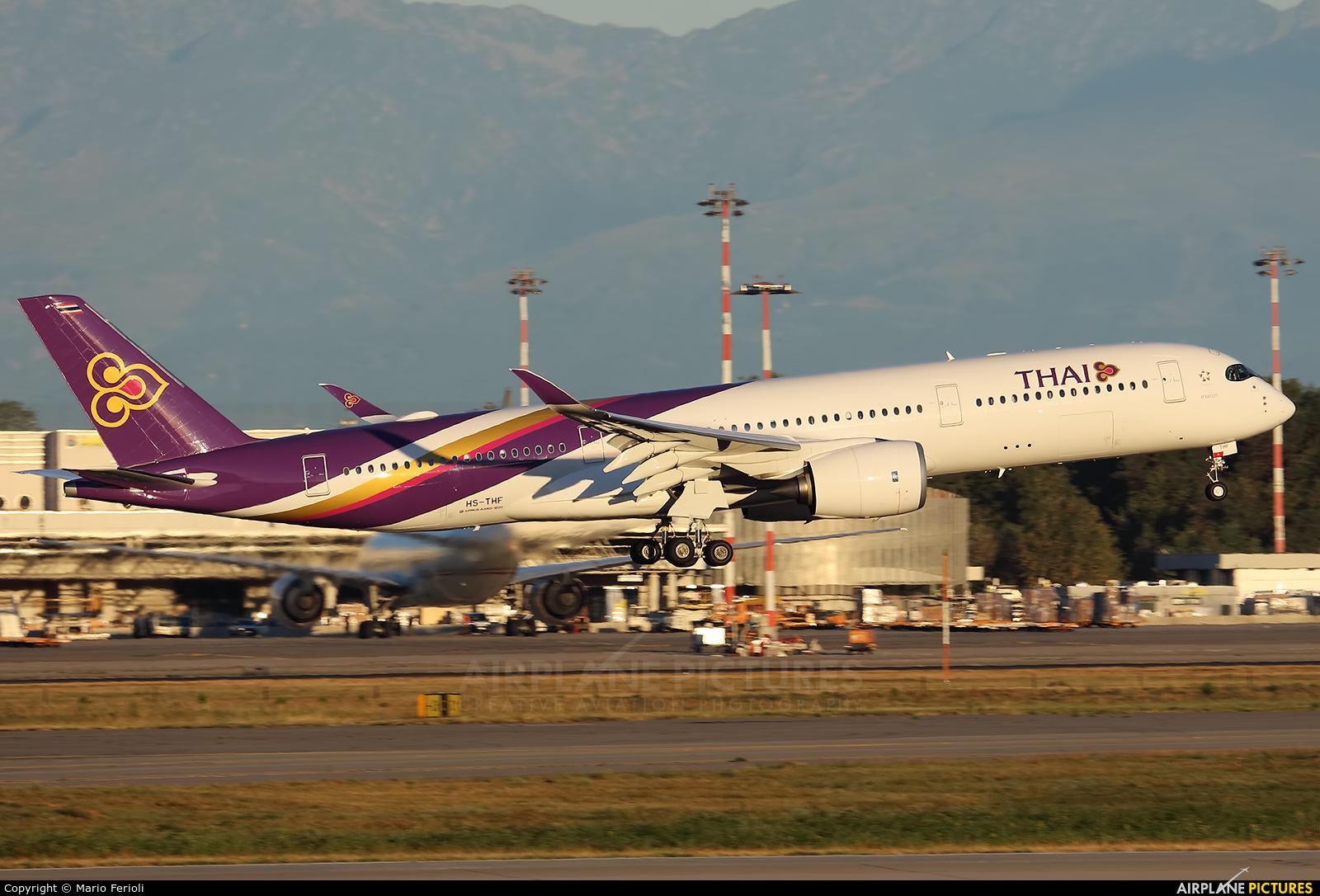 Thai Airways HS-THF aircraft at Milan - Malpensa