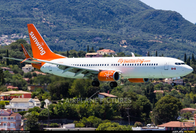 Sunwing Airlines C-FEAK aircraft at Corfu - Ioannis Kapodistrias