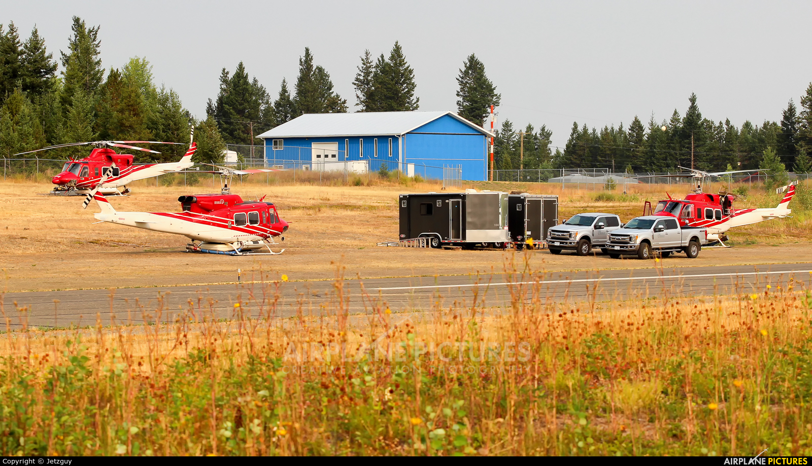 - Airport Overview - aircraft at 108 Mile Ranch, BC