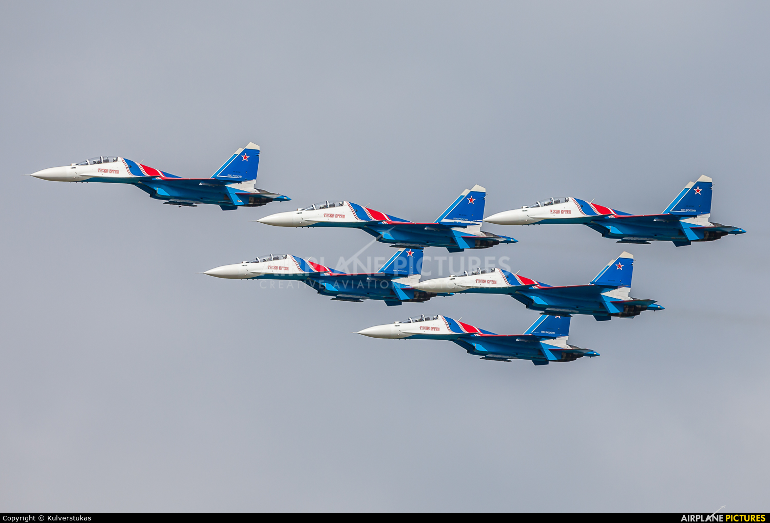 "Russia - Air Force ""Russian Knights"" RF-81702 aircraft at Ramenskoye - Zhukovsky"
