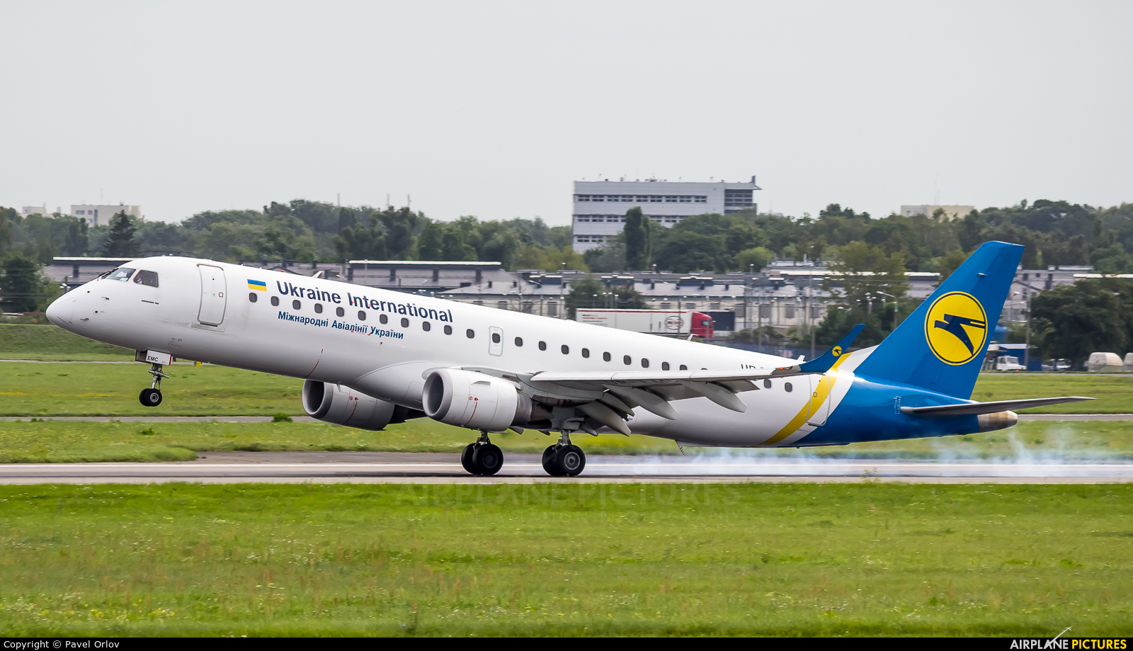 Ukraine International Airlines UR-EMC aircraft at Warsaw - Frederic Chopin