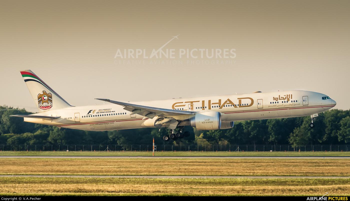 Etihad Airways A6-ETM aircraft at Munich