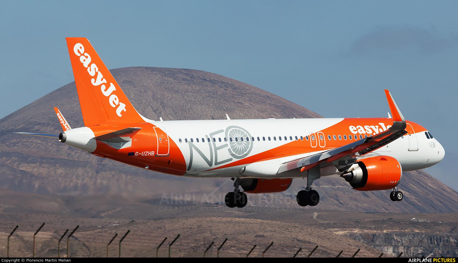 easyJet G-UZHB aircraft at Lanzarote - Arrecife
