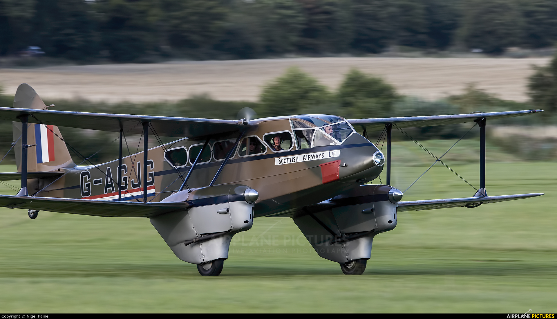 Private G-AGJG aircraft at Old Warden