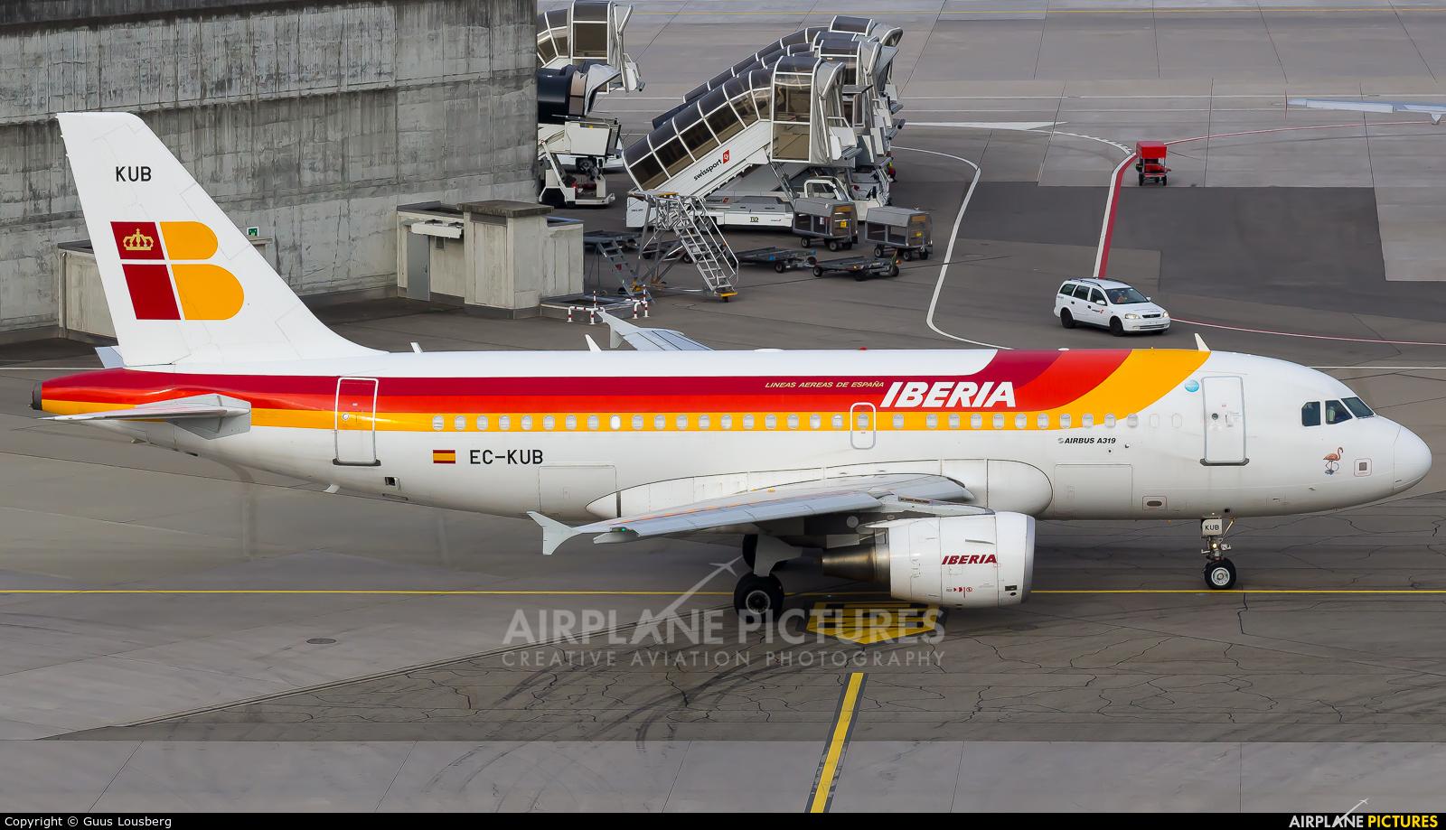 Iberia EC-KUB aircraft at Zurich