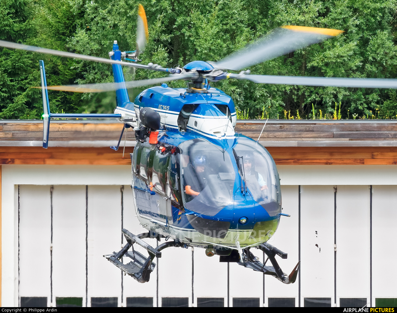 France - Gendarmerie F-MJBK aircraft at Chamonix - Mont-Blanc