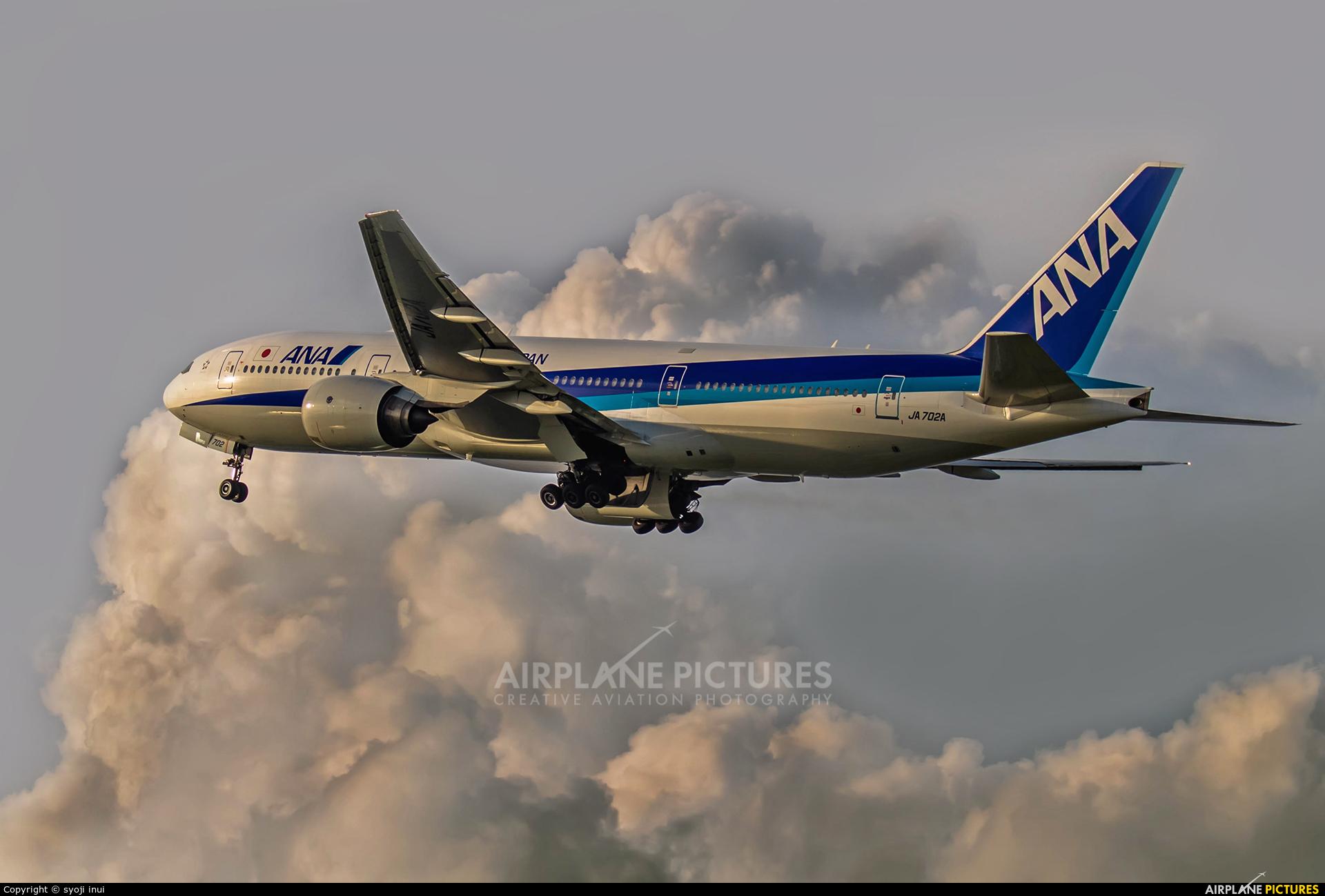 ANA - All Nippon Airways JA702A aircraft at Osaka - Itami Intl