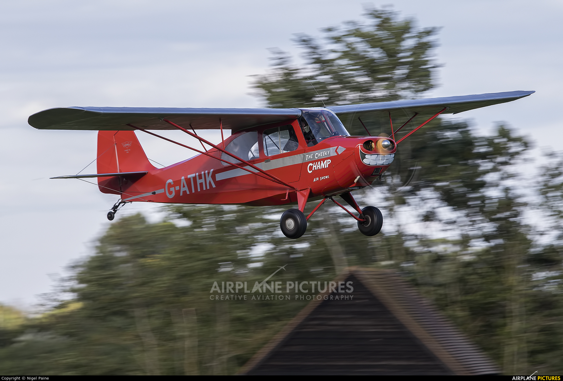 Private G-ATHK aircraft at Old Warden