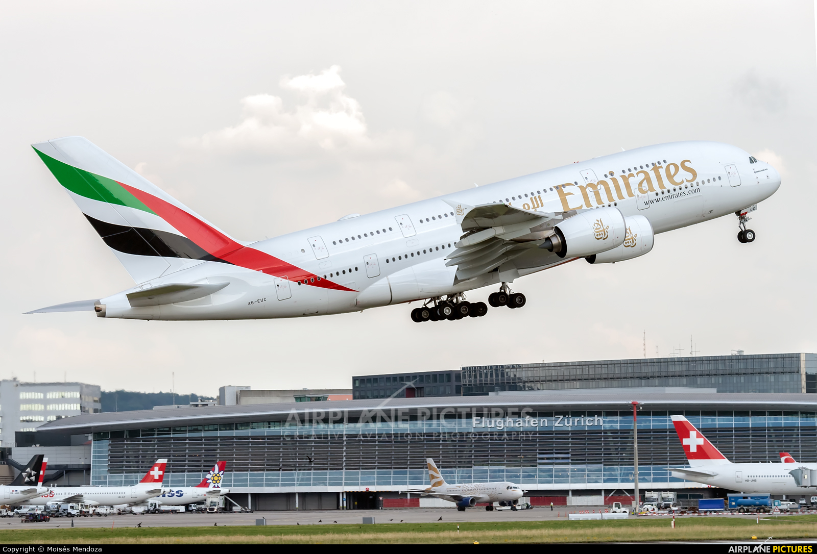 Emirates Airlines A6-EUC aircraft at Zurich