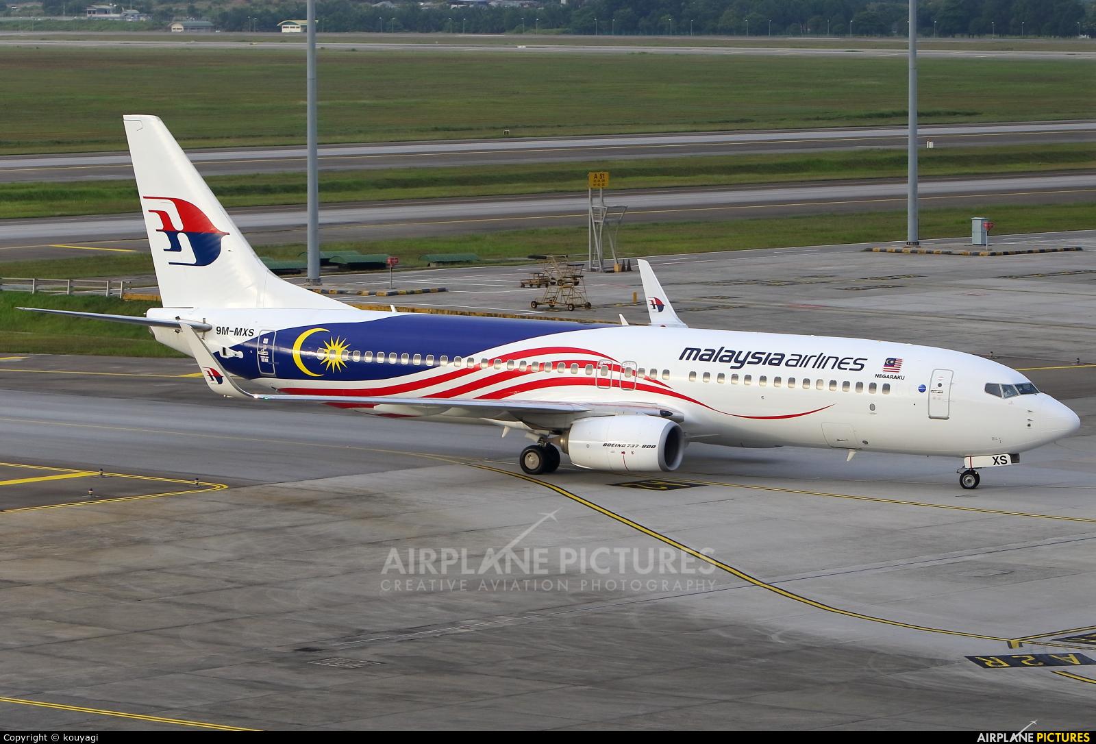 Malaysia Airlines 9M-MXS aircraft at Kuala Lumpur Intl
