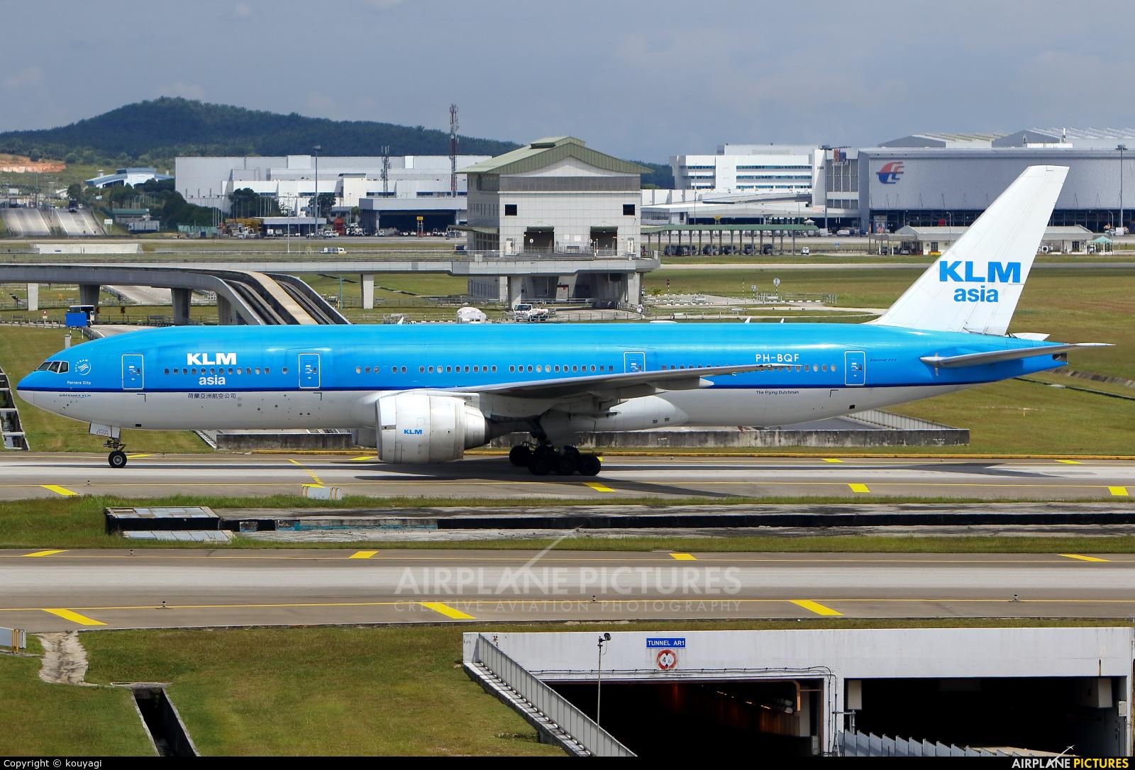 KLM Asia PH-BQF aircraft at Kuala Lumpur Intl