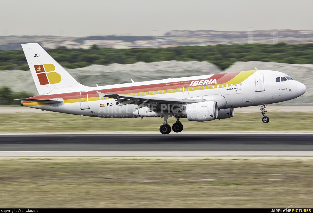 Iberia EC-JEI aircraft at Madrid - Barajas