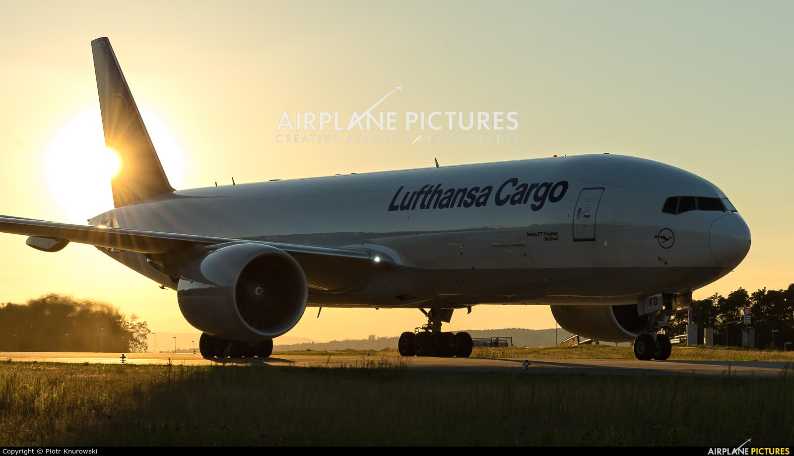 Lufthansa Cargo D-ALFD aircraft at Frankfurt