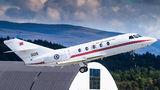 Norwegian Air Force Falcon 20 visits Bergen