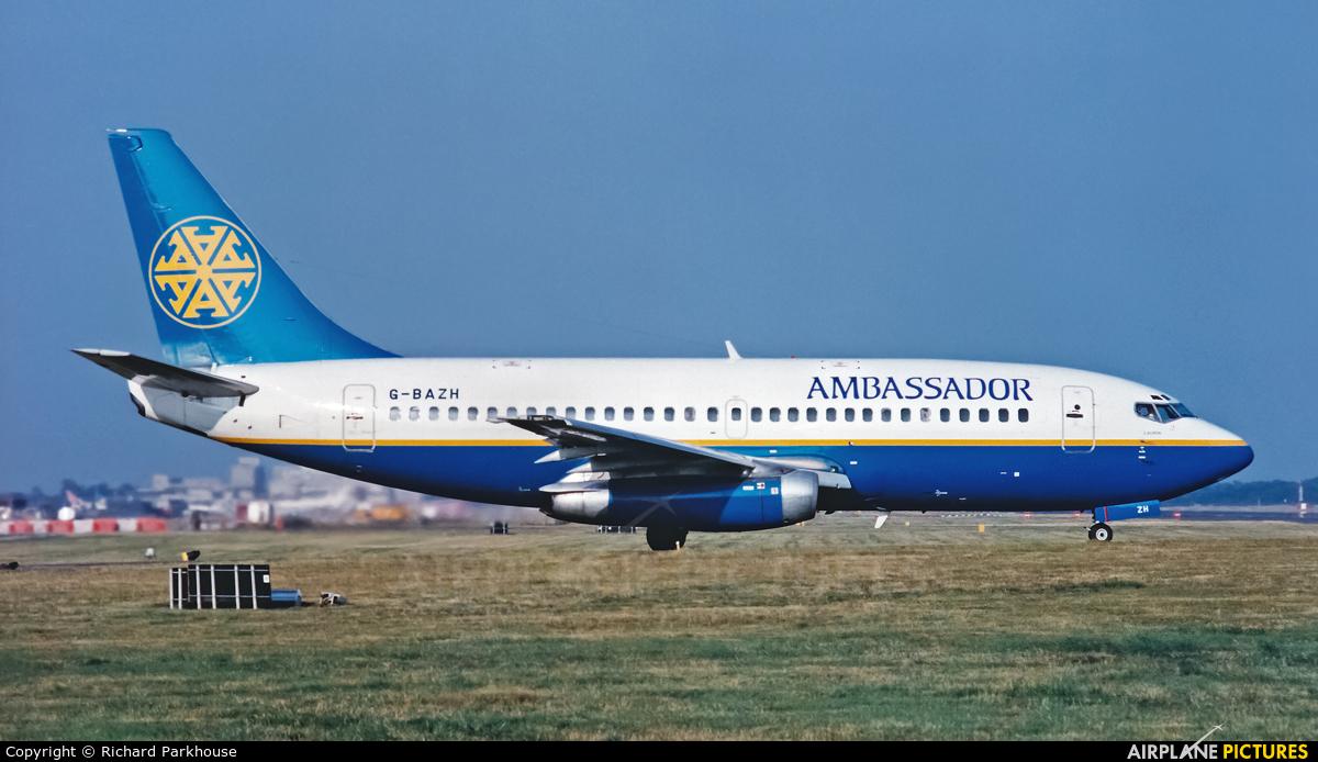 Ambassador Airways G-BAZH aircraft at London - Gatwick