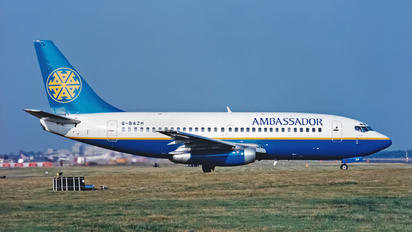 G-BAZH - Ambassador Airways Boeing 737-200