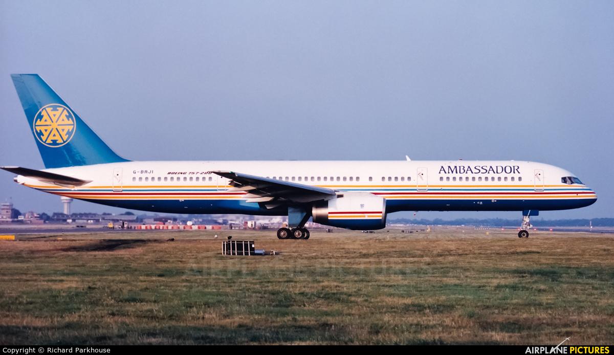 Ambassador Airways G-BRJI aircraft at London - Gatwick