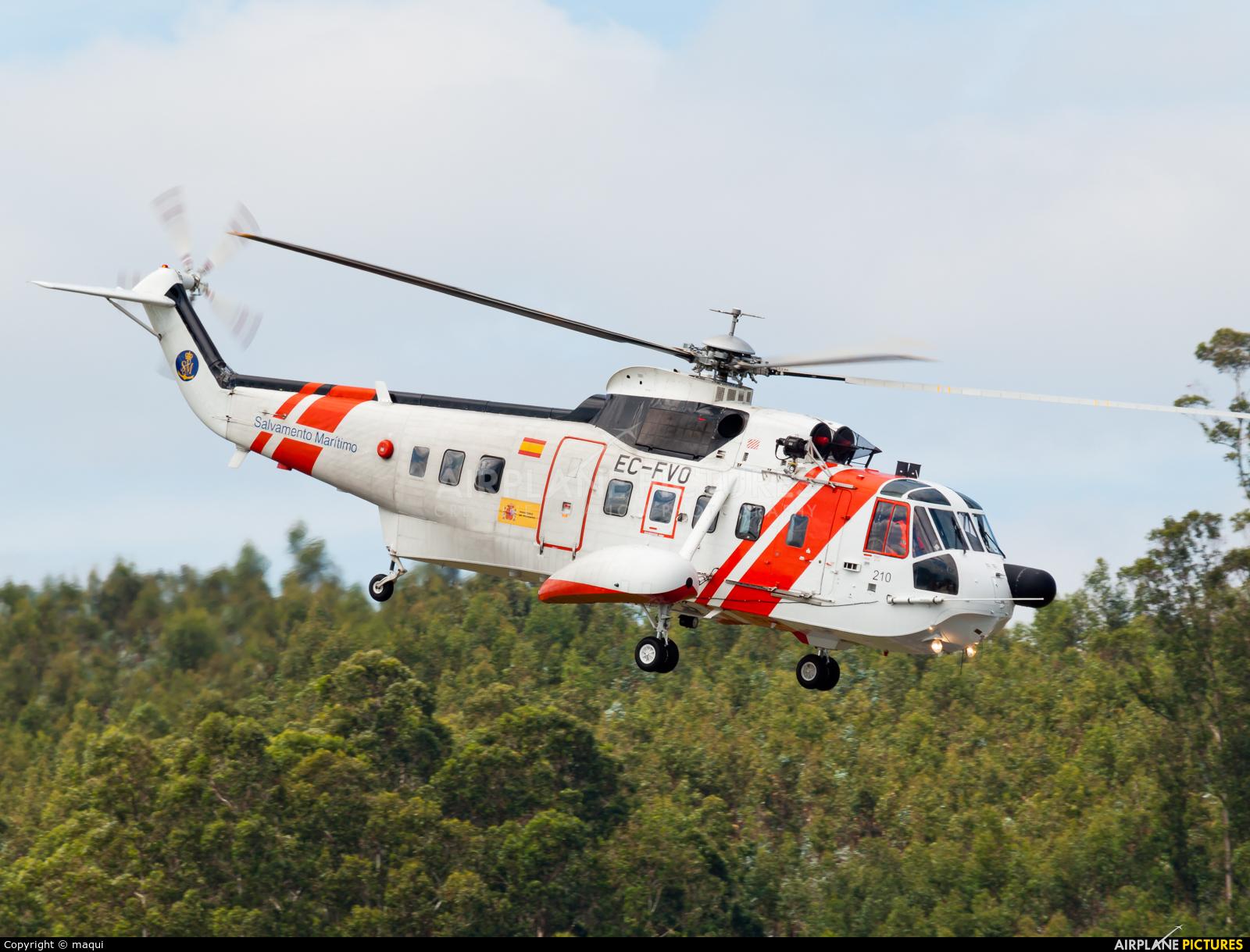 Spain - Coast Guard EC-FVO aircraft at La Coruña