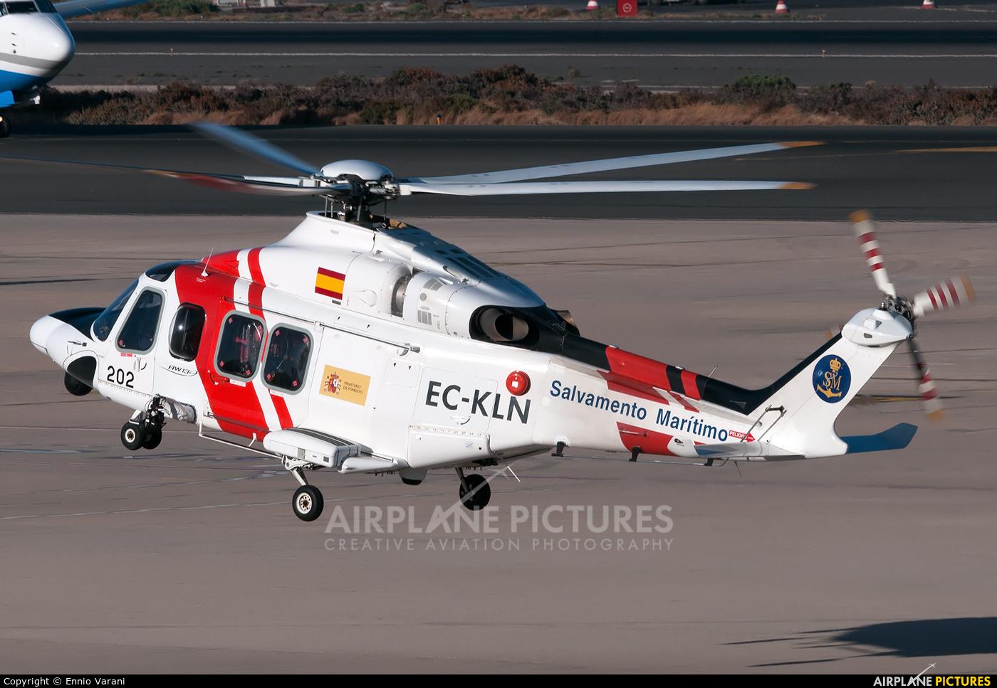 Spain - Coast Guard EC-KLN aircraft at Las Palmas de Gran Canaria