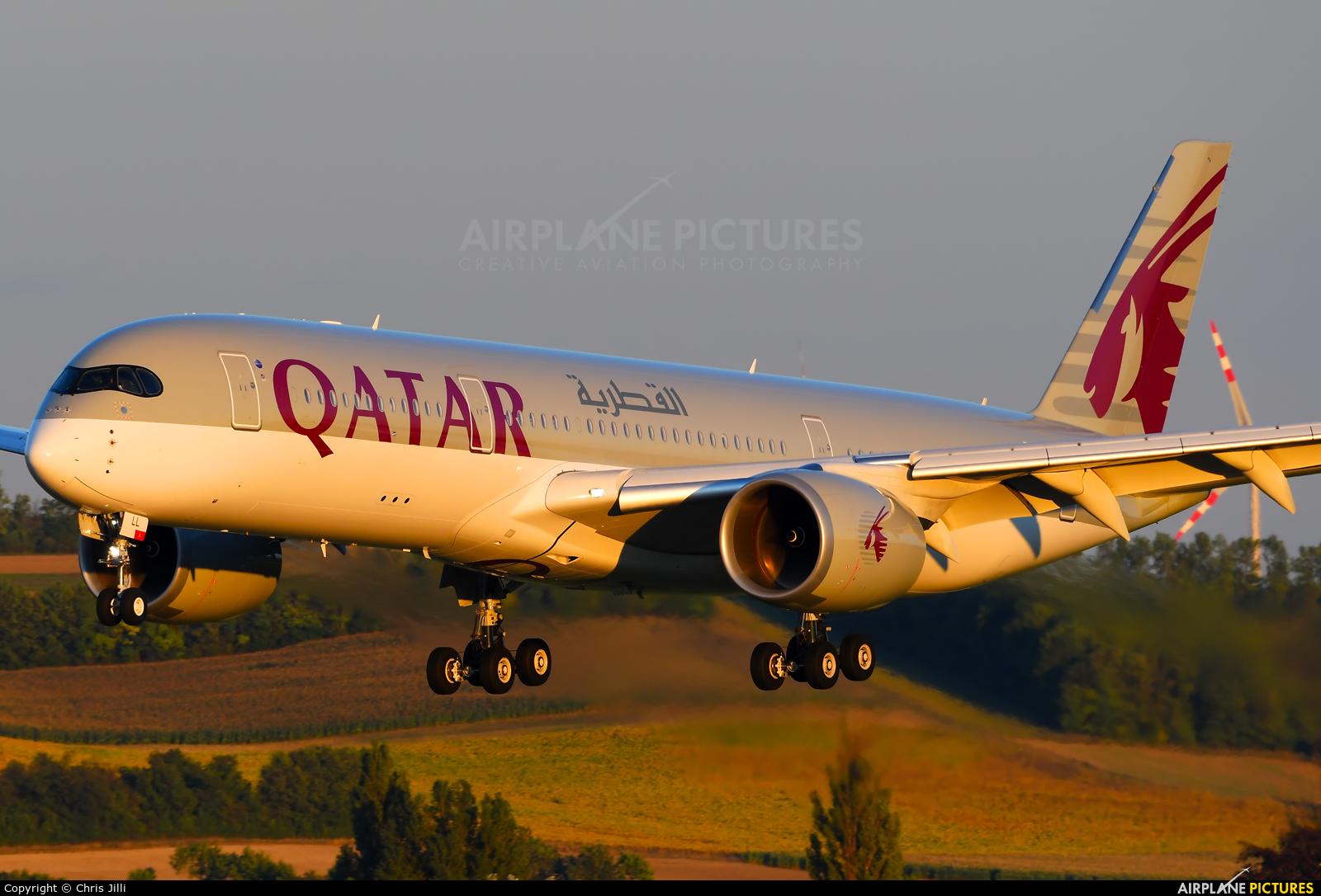 Qatar Airways A7-ALL aircraft at Vienna - Schwechat
