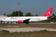 Rare visit of AlbaStar B734 to Craiova title=