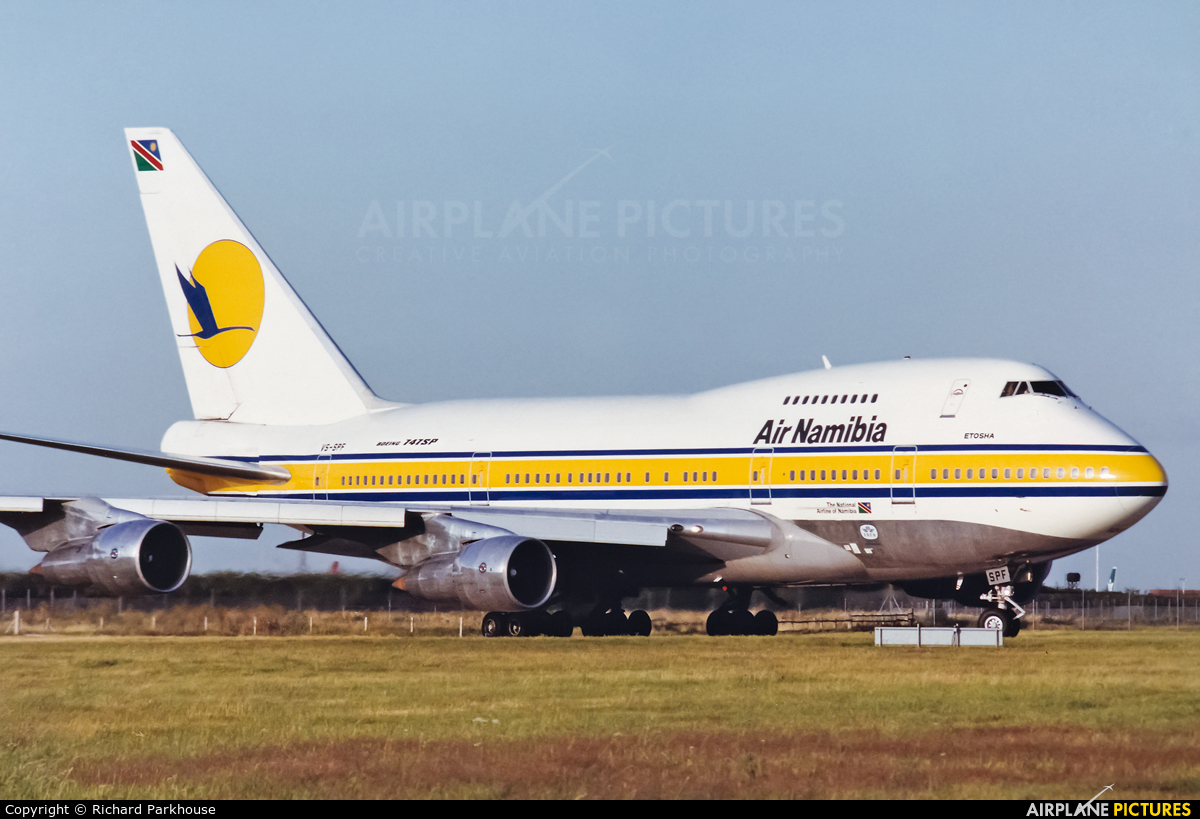 Air Namibia V5-SPF aircraft at London - Heathrow